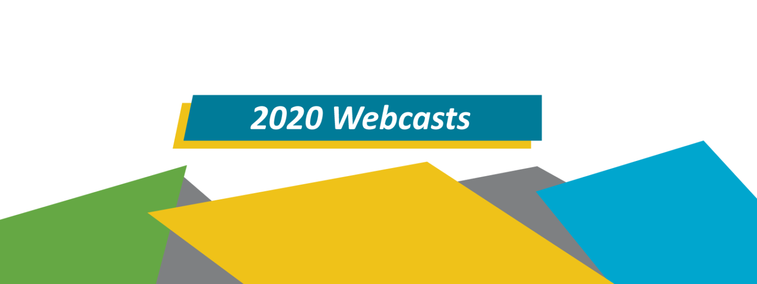 2020 Webcasts