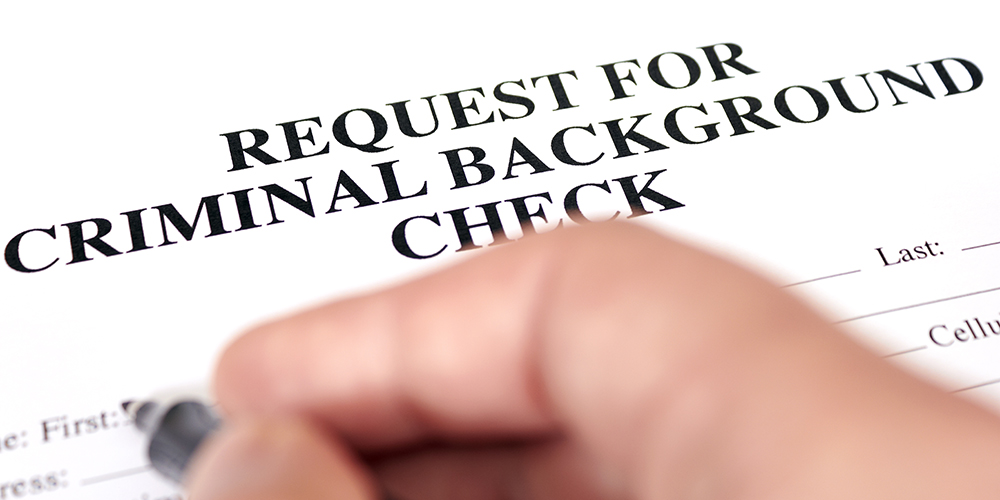 Request for a criminal background check