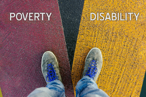 image of words poverty and disability intersecting