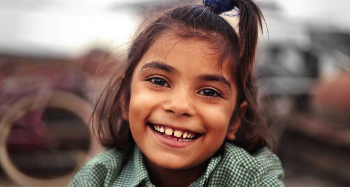 girl smiling at the camera